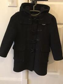 Boys Gloverall Grey Duffle Coat
