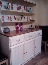 Beautiful original shabby chic pine welsh dresser