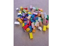 Viga toys colourful wooden building blocks