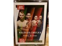 Framed UFC Fight Night Dublin Poster
