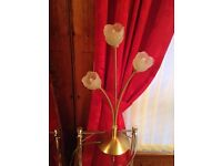 Gold rose shaped table lamp