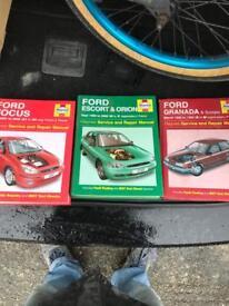 Haynes manuals x3
