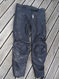 R S Performance leather motorcycle trousers 36 inch waist.