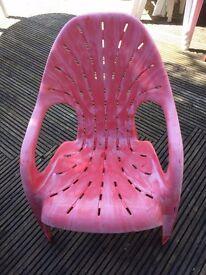 Eight matching garden chairs