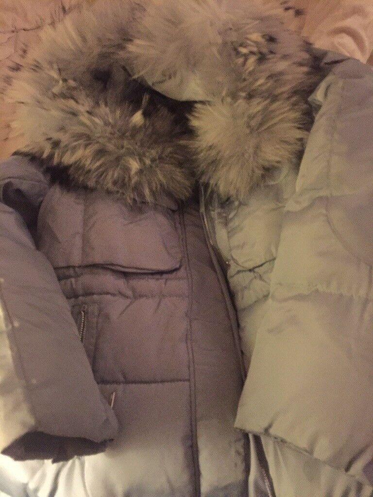Ladies Fur collar duck down coat size M