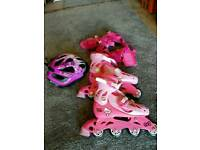 Hello Kitty Roller Blades and accessories