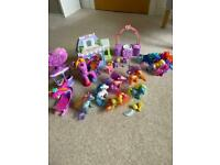 Large bundle My little Pony 2002 helicopter hot air balloon ponies