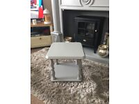 Stunning upcycled side table in grey