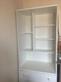White retro bedroom unit drawers