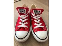 Nearly new red Converse Oxford trainers - size UK4 - perfect condition!