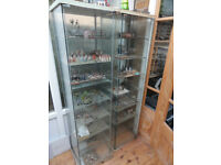 Glass display cabinets.