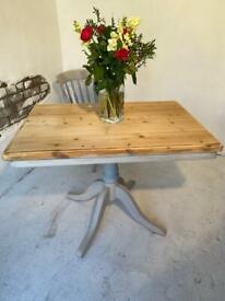Antique Pine Farmhouse Kitchen Dining Table