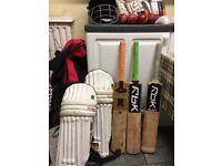 cricket bats, cricket bag, cricket helmet and more