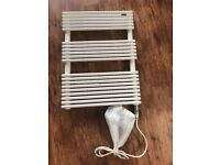 Electric towel radiator with all brackets. excellent condition