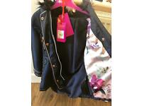 GIRLS TED BAKER WINTER COAT -designer brand
