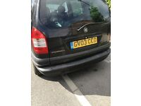 Vauxhall Zafira, drives ok - spares and repairs