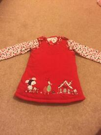 X2 winter dress. Baby girl clothes 3-6 months