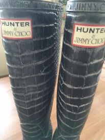 Hunter & Jimmy Choo Wellies - Size 3