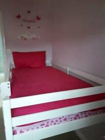 White midsleeper bed