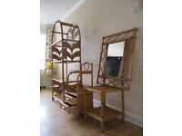 Full Set of top quality Bamboo Furniture Shelving / Mirror / Draws