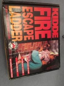 Kidde steel fire escape ladder, 15'/two storey
