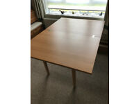 wooden dining table - seats 4, extends to 6 - quick sale!!