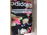 Black Floral Adidas Tracksuit