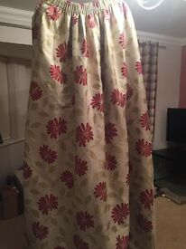 2 Pairs of Glasswells Fully Lined Pleated Top Curtains