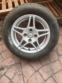 A set of four wheels