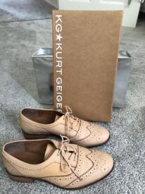 Kurt Geiger nude lace up shoes size 6