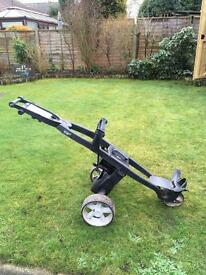 Electric golf trolley. Gokart.