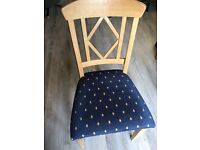 Six solid Oak Dining Room Chairs