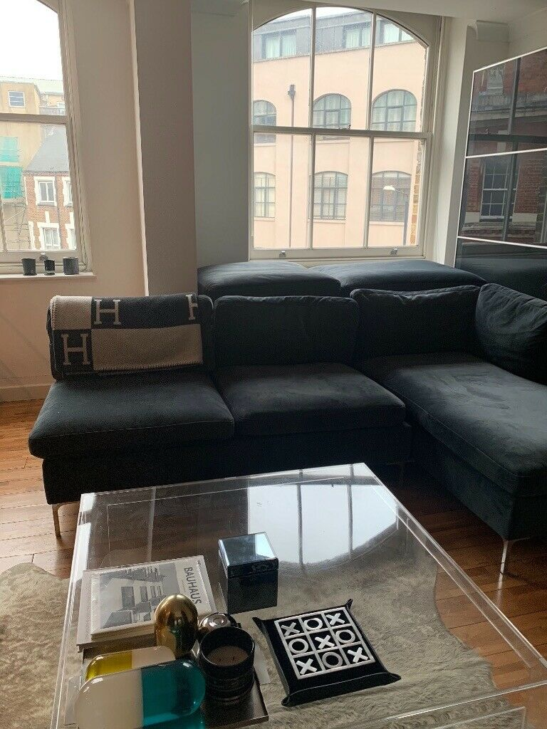 timeless design bf0f9 d1ac3 MADE monterosso corner sofa (dark teal- blueish grey / midnight grey) | in  Camden, London | Gumtree