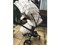 Silver cross surf petals limited edition travel system & car seat