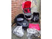 iCandy Apple Travel System with red flavour pack