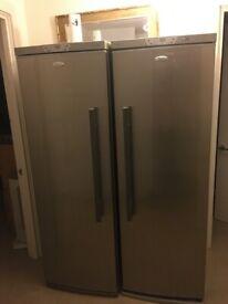 SAMSUNG 1.80m Fridge and separate Freezer the same size.