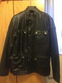 New Zara Man leather jacket never worn size medium
