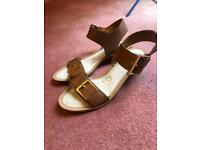 Clarks new tan ladies sandals