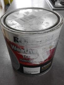RONSEAL Weatherproof 10 Year Exterior Wood Paint - Brilliant White Gloss