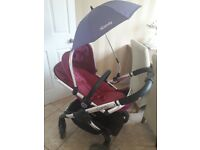 iCandy peach 3 fuchsia Full travel system 3 in 1