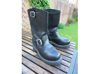 Grinders Wild One Leather Bikers Boots
