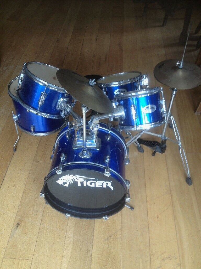 Kids Professional Tiger Drum Kit.