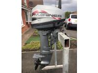 Mariner 15hp outboard with tank. -boats.