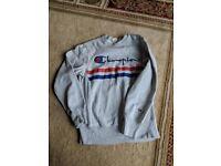 Popular 'Champion' teenagers top /sweatshirt. Grey size medium.