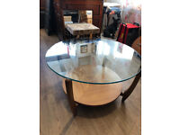 RETRO Original Glass Round Coffee Table - free local delivery