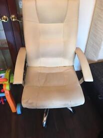Computer chair cream