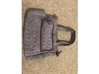 Lovely grey quilted skip hop baby changing bag