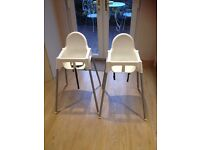 Ikea antilop highchair x2 with tables
