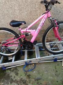 Girls suspension mountain bike
