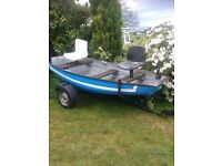 Larne Inver 10 Foot Fishing Boat c/w Trailer and Oars.